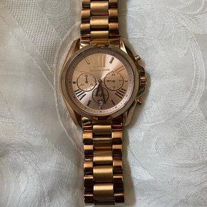 COPY - Michael Kors Bradshaw Rose Gold-Tone Watch…